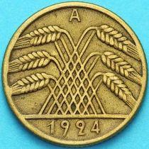Германия 10 рентенпфеннигов 1924 год. А