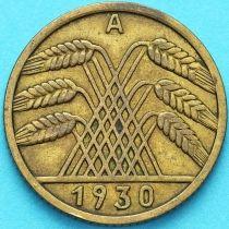 Германия 10 рейхспфеннигов 1930 год. А