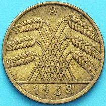 Германия 10 рейхспфеннигов 1932 год. А