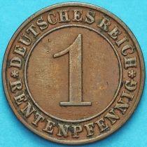 Германия 1 рентенпфенниг 1923 год. А.