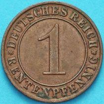 Германия 1 рентенпфенниг 1924 год. А.