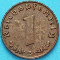 Германия 1 рейхспфенниг 1939 год. В.