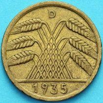 Германия 10 рейхспфеннигов 1935 год. D