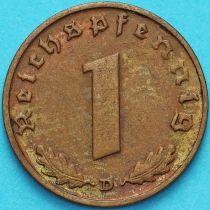 Германия 1 рейхспфенниг 1938 год. D.