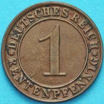 Германия 1 рентенпфенниг 1924 год. D.