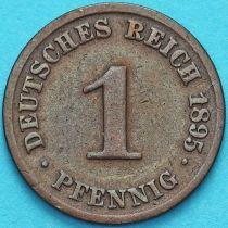 Германия 1 пфенниг 1895 год. J.