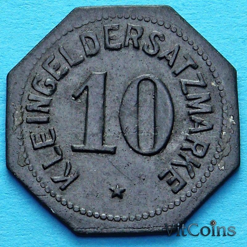Монета Германии 10 пфеннигов. Нотгельд Регенсбург.