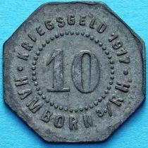 Германия 10 пфеннигов 1917. Нотгельд Хамборн на Рейне.