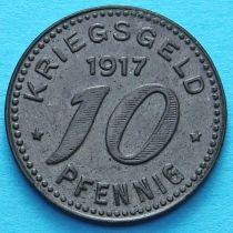 Германия 10 пфеннигов 1917 год. Нотгельд Бармен.