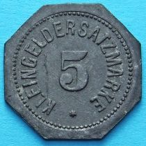Германия 5 пфеннигов 1917 год. Нотгельд Майнц.