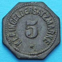 Германия 5 пфеннигов 1917-1920. Нотгельд Регенсбург.