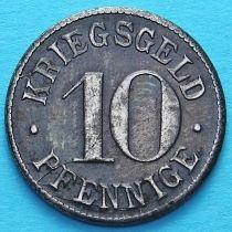 Германия 10 пфеннигов 1917-1920 год. Нотгельд Гейдельберг.