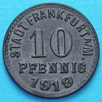 Германия 10 пфеннигов 1919 год. Нотгельд Франкфурт на Майне.