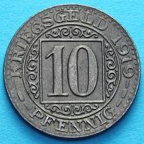 Германия 10 пфеннигов 1919 год. Нотгельд Оберхаузен.
