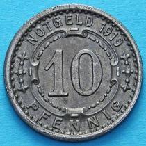Германия 10 пфеннигов 1919 год. Нотгельд Виттен.