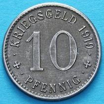 Германия 10 пфеннигов 1919 год. Нотгельд Менден.