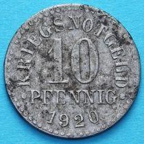 Германия 10 пфеннигов 1920 год. Нотгельд Брауншвейг.