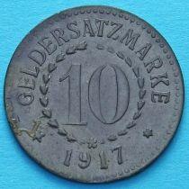 Германия 10 пфеннигов 1917 год. Нотгельд Познань.