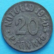 Германия 20 пфеннигов 1920 год. Нотгельд Кассель.