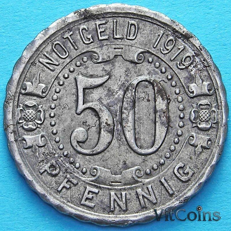Монета Германии 50 пфеннигов 1919 год. Нотгельд Виттен.