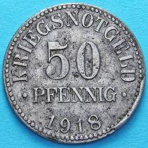 Германия 50 пфеннигов 1918 год. Нотгельд Брауншвейг.