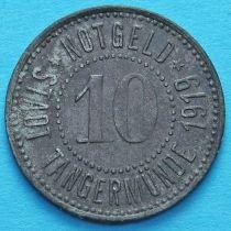 Германия 10 пфеннигов 1919 год. Нотгельд Тангермюнде.