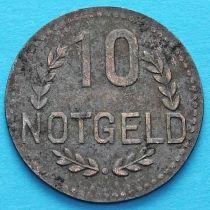 Германия 10 пфеннигов 1917-1920 год. Нотгельд Висбаден.