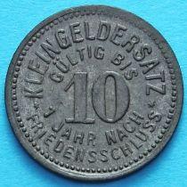 Германия 10 пфеннигов 1918 год. Нотгельд Мойзельвиц. Цинк.