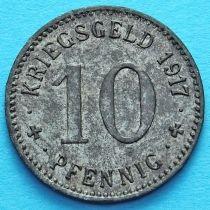 Германия 10 пфеннигов 1917 год. Нотгельд Менден.
