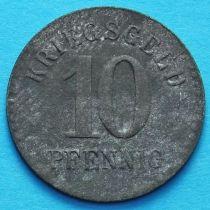 Германия 10 пфеннигов 1918 год. Нотгельд Фуртванген.