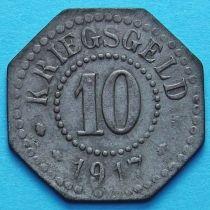 Германия 10 пфеннигов 1917 год. Нотгельд Хамм.