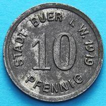 Германия 10 пфеннигов 1919 год. Нотгельд Буер. Железо.