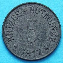 Германия 5 пфеннигов 1917 год. Нотгельд Арцберг.