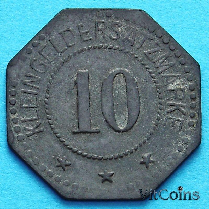 Монета Германии 10 пфеннигов 1917 год. Нотгельд Нойштадт.