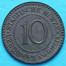 Германия 10 пфеннигов 1917 год. Нотгельд Юрдинген.