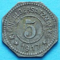 Германия 5 пфеннигов 1917 год. Нотгельд Розенхайм.