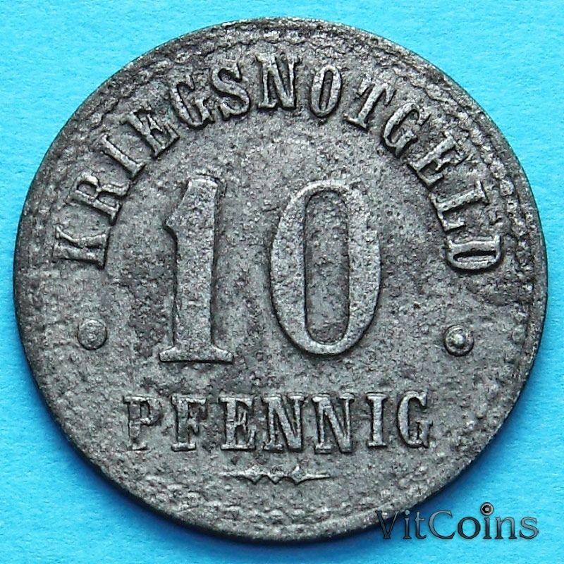 Монета Германии 10 пфеннигов 1918 год. Нотгельд Нортхайм.