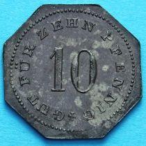 Германия 10 пфеннигов 1917 год. Нотгельд Бад-Тельц.