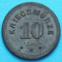 Германия 10 пфеннигов 1917 год. Нотгельд Кемптен.
