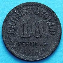 Германия 10 пфеннигов 1917 год. Нотгельд Узинген.