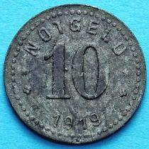 Германия 10 пфеннигов 1919 год. Нотгельд Унтервезер.