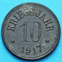 Германия 10 пфеннигов 1917 год. Нотгельд Хассфурт.