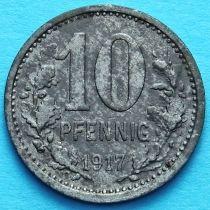 Германия 10 пфеннигов 1917 год. Нотгельд Изерлон.
