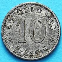 Германия 10 пфеннигов 1920 год. Нотгельд Липпштадт.