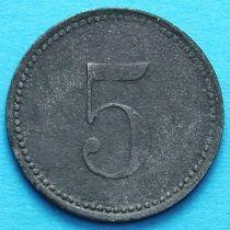 Германия 5 пфеннигов 1917 год. Нотгельд Херсбрук.
