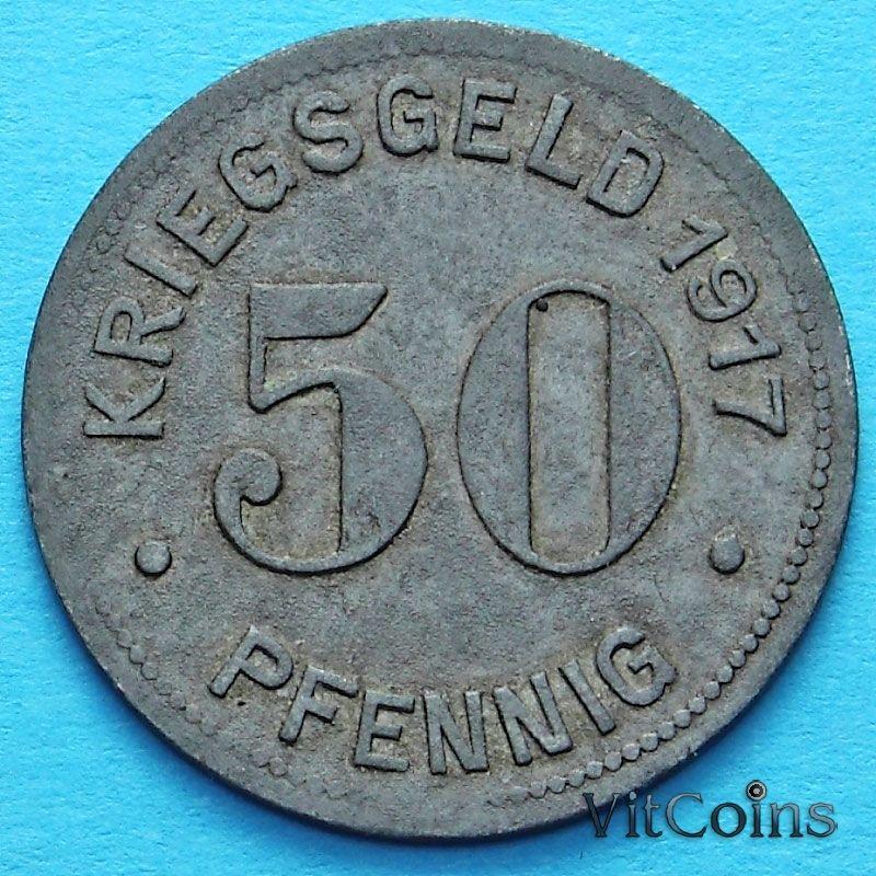 Монета Германии 50 пфеннигов 1917 год. Нотгельд Эссен.