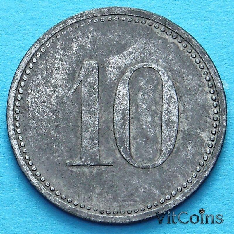 Монета Германии 10 пфеннигов 1917 год. Нотгельд Херсбрук.