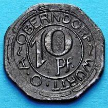 Германия 10 пфеннигов 1918 год. Нотгельд Обендорф.