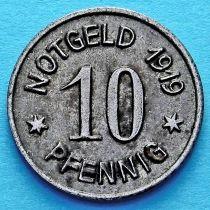 Германия 10 пфеннигов 1919 год. Нотгельд Бинген на Рейне.