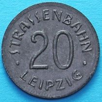 Германия 20 пфеннигов 1920 год. Нотгельд Лейпциг. Цинк.